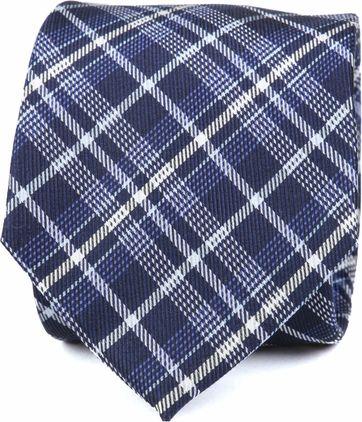 Krawatte Seide Dunkelblau Karo K82-21
