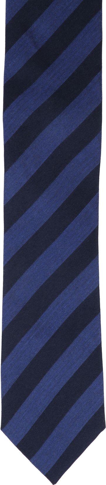 Krawatte Seide Dunkelblau Streifen K82-16