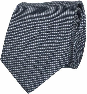 Krawatte Seide Dunkelgrau Motiv