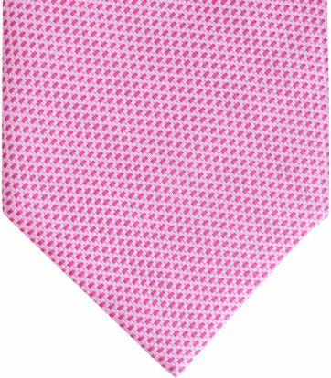 Krawatte Seide Fuchsia Motiv