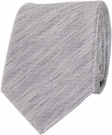 Krawatte Seide Grau Meliert Struktur