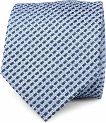 Krawatte Seide Grün Muster