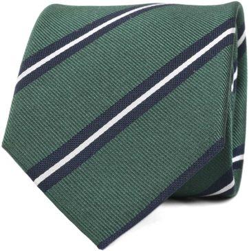 Krawatte Seide Grün Streifen