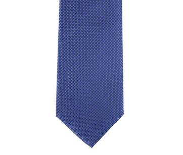 Detail Krawatte Seide Karo Blau 9-17