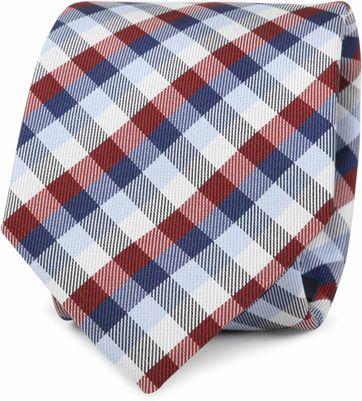 Krawatte Seide Karo Rot