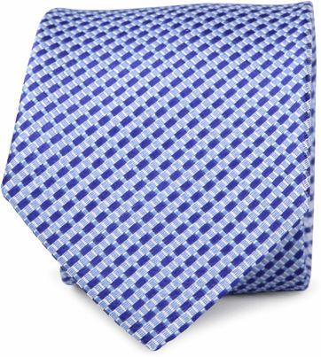 Krawatte Seide Kobalt Muster