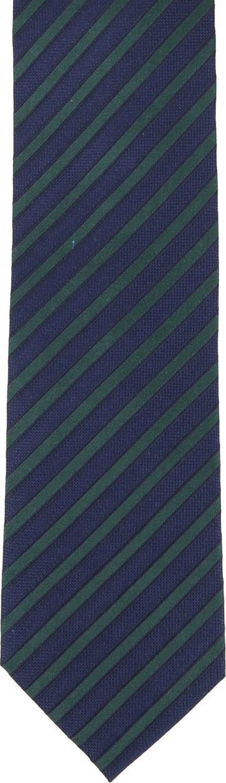 Krawatte Seide Navy Grün Streifen F82-3