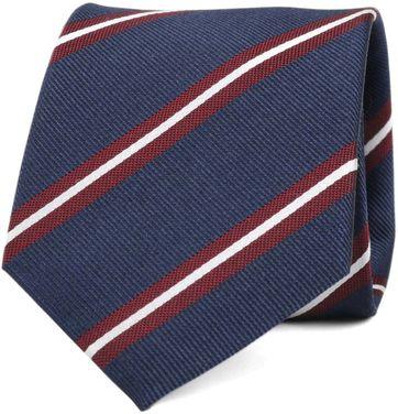 Krawatte Seide Navy Streifen