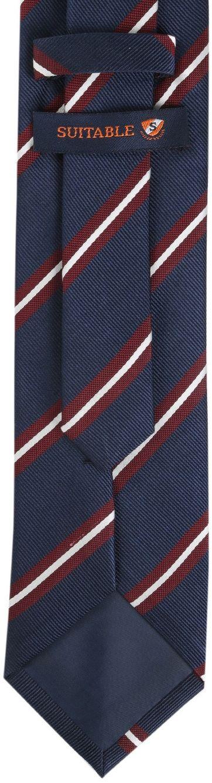 Detail Krawatte Seide Navy Streifen