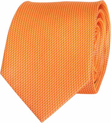 Krawatte Seide Orange Motiv