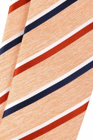 Krawatte Seide Orange Streif