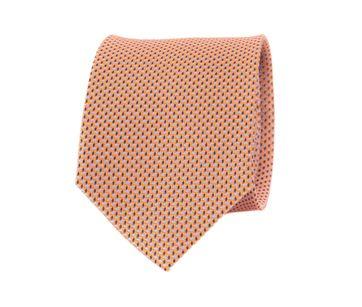 Krawatte Seide Orange Struktur