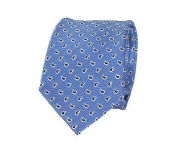 Krawatte Seide Ozeanblau Paisley