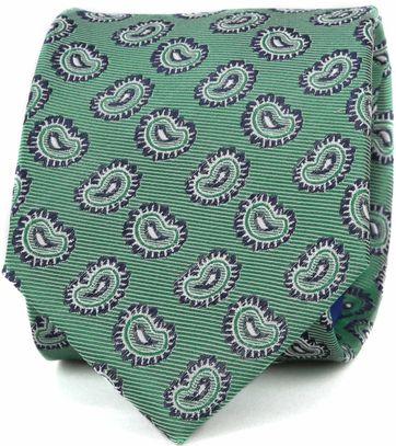 Krawatte Seide Paisley Grün