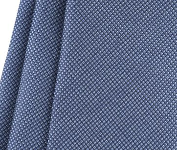 Detail Krawatte Seide Pinpoint Dunkeblau 9-17