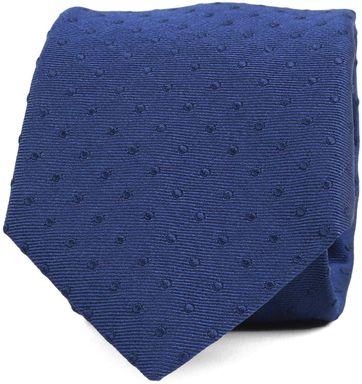 Krawatte Seide Punkte Blau