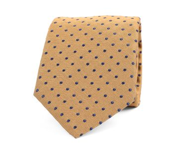 Krawatte Seide Punkte Gelb
