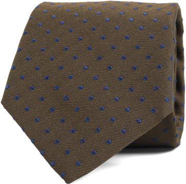 Krawatte Seide Punkte Grun