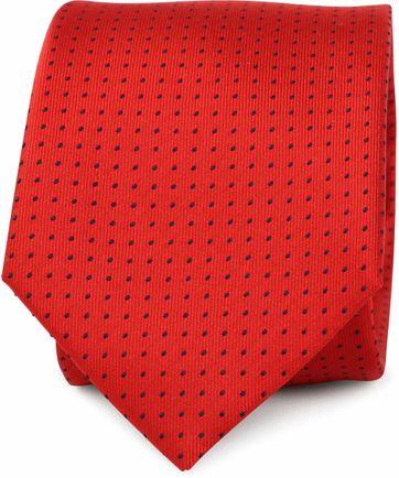 Krawatte Seide Punkte Rot