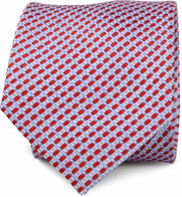 Krawatte Seide Rot Muster