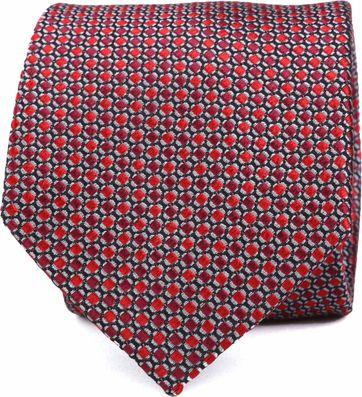 Krawatte Seide Rot Muster K82-9