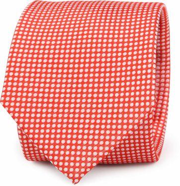 Krawatte Seide Rot Punkte K81-20