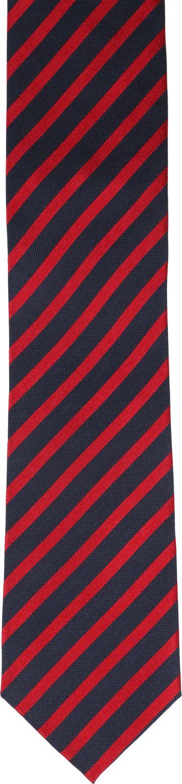 Krawatte Seide Rot Streifen K82-18