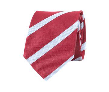 Krawatte Seide Rot Weiß Streifen