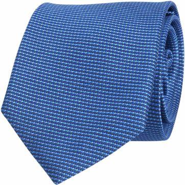Krawatte Seide Royal Blau Motiv