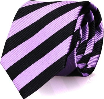 Krawatte Seide Schwarz Streifen FD19