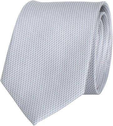 Krawatte Seide Silber Grau Motiv