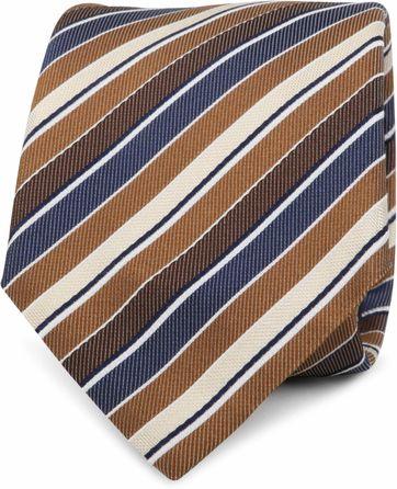 Krawatte Seide Streifen Braun