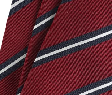 Detail Krawatte Seide Streifen Rot