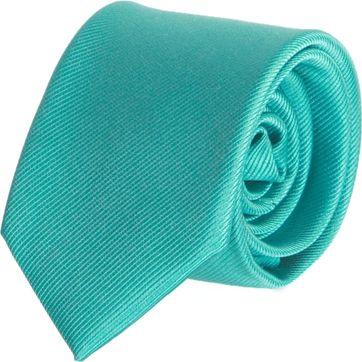 Krawatte Seide Türkis Uni F67