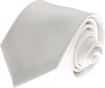 Krawatte Seide Weiß Uni F27