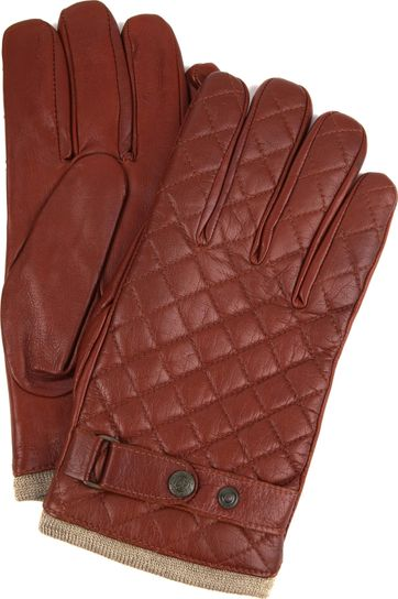 Laimbock Quilted Gloves Blacos Bordeaux