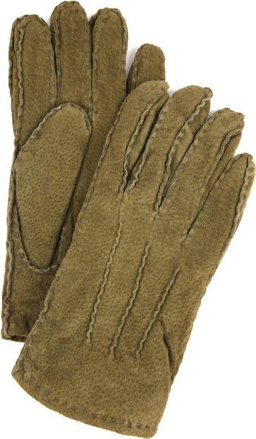 Laimbock Suede Gloves Penryn Olive