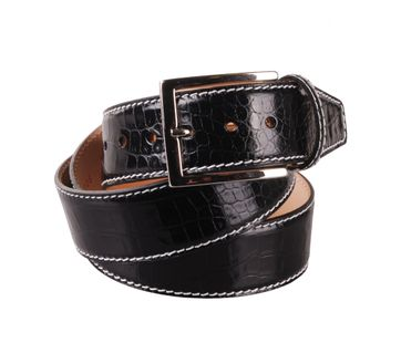Leather Belt Croco Black G71