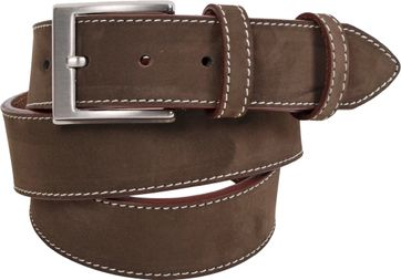 Leather Belt Suede Brown 511-03