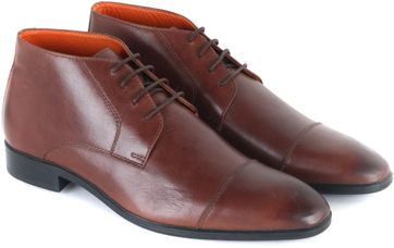 Leather Boots Dark Brown