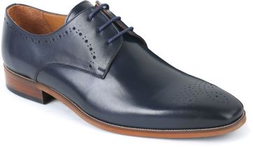 Leather Dress Shoes Brogues Navy