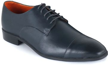 Leather Men's Shoes Derby Navy