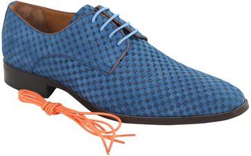 Leder Schuh Blau