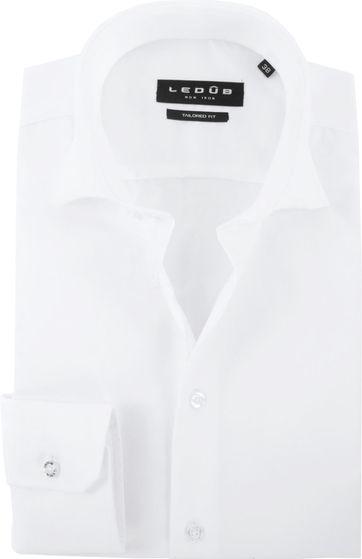 Ledub Bügelfrei Hemd Weiß