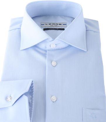 Ledub Hemd Blau Bügelfrei