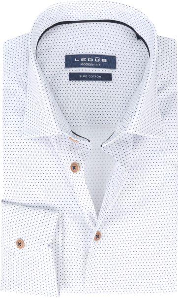 Ledub Hemd Blau Weiß