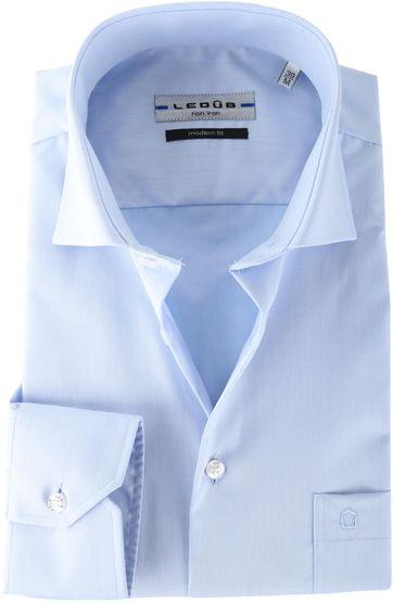 Ledub Hemd Blauw Non Iron