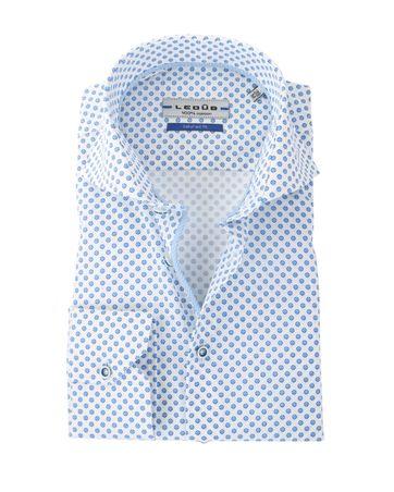 Ledub Hemd Blauw-Wit Ruit