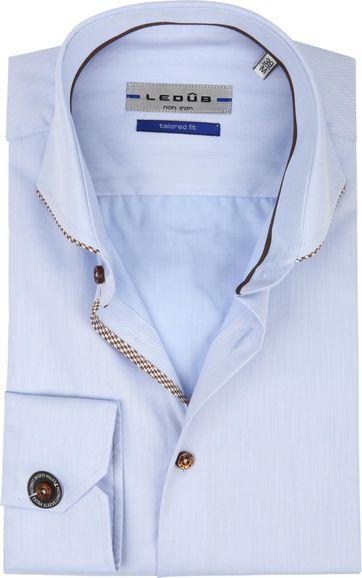 Ledub Hemd Bügelfrei Blau SL7