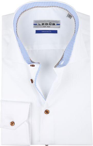 Ledub Hemd Bügelfrei Weiß